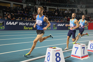 Marcin Lewandowski in the 1500m at the IAAF World Indoor Tour meeting in Torun (Jean-Pierre Durand)