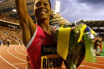 Sanya Richards secures a share of the $1million ÅF Golden League jackpot (Getty Images)