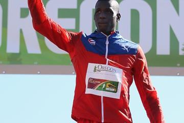 Triple jump champion Lazaro Martinez at the IAAF World Junior Championships, Oregon 2014 (Getty Images)