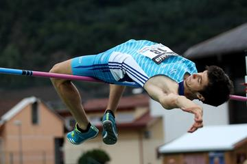 Stefano Sottile, winner of the high jump at the Italian Championships (Giancarlo Colombo)