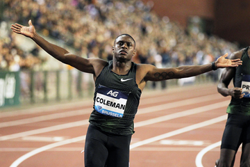 Christian Coleman wins the 100m at the IAAF Diamond League final in Brussels (Gladys Chai von der Laage)