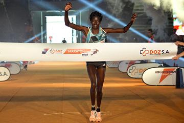 Jane Kiptoo wins the Lodz Marathon (Organisers)