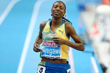 Abeba Aregawi wins the European indoor 1500m title by almost 10 seconds (Getty Images)
