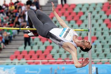 Bogdan Bondarenko, winner of the high jump at the IAAF Diamond League meeting in Rabat (Kirby Lee)