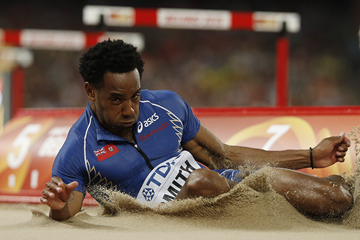 Bermudan long jumper Tyrone Smith at the IAAF World Championships (AFP / Getty Images)