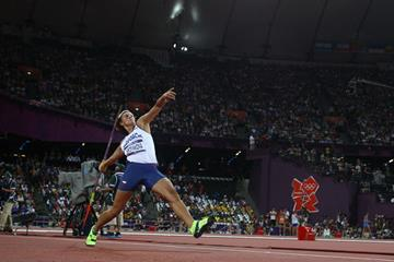 Barbora Spotakova in the javelin at the London 2012 Olympic Games (Getty Images)
