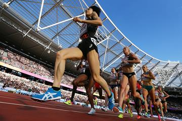 Athletes in action in the 5000m at the IAAF World Championships (Getty Images)