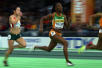 Marie-Josee Ta Lou in the 60m at the IAAF World Indoor Championships Portland 2016 (Getty Images)