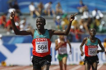 David Kiprotich Bett of Kenya wins the men's 5000m final in Moncton (Getty Images)