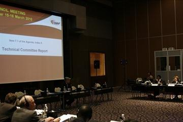 The first day of the IAAF Council meeting at the Grand Hyatt in Doha (IAAF)