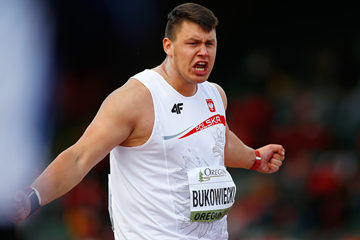 Konrad Bukowiecki in the shot put at the IAAF World Junior Championships Oregon 2014 (Getty Images)