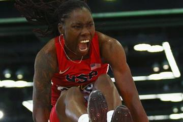 Brittney Reese at the IAAF World Indoor Championships Portland 2016 (Getty Images)