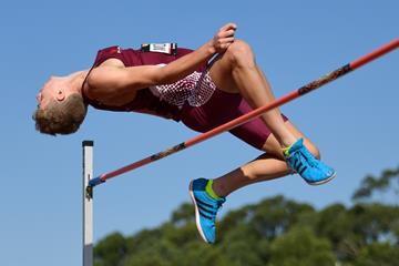 Australia's Ashley Moloney in the decathlon high jump (Getty Images)