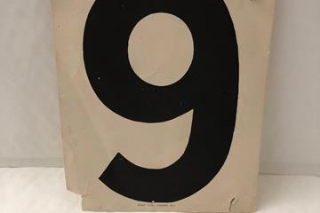 Laszlo Tabori's bib number (Heritage)