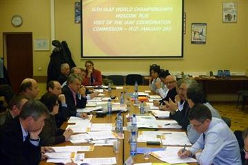 Moscow, 19 January 2011 - The IAAF Coordination Commission meets with members of the Local Organising Committee for the 2013 IAAF World Championships (All Russia Athletic Federation)