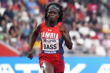 Gina Bass at the World Athletics Championships Doha 2019 (AFP/Getty Images)