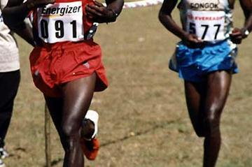 Eliud Kipchoge leads Isaack Songok - 4k North Rift Valley cross (David Macharia)