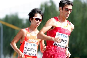 Miguel Angel Lopez in the 20km race walk at the IAAF World Championships, Beijing 2015 (Getty Images)