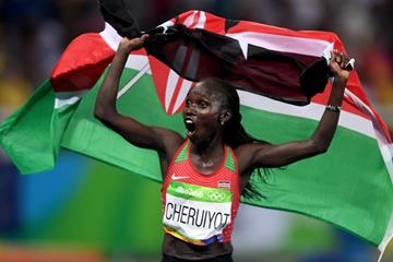 Vivian Cheruiyot at the Rio 2016 Olympic Games (Getty Images)