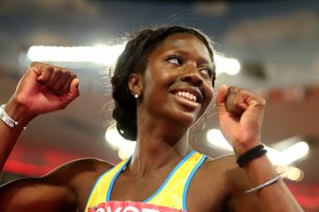Khaddi Sagnia at the IAAF World Championships (Getty Images)