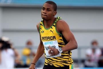 Warren Weir in the 4x200m heats at the IAAF/BTC World Relays, Bahamas 2015 (Getty Images)