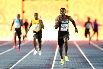 Aaron Brown at the IAAF World Relays in Nassau (Getty Images)