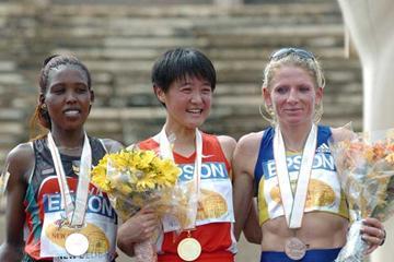 Women's Podium (Prakash Singh (AFP) for the IAAF)