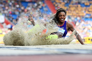 Caterine Ibarguen, winner of the triple jump at the IAAF Continental Cup Ostrava 2018 (Getty Images)
