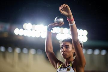 Selina Dantzler in the shot put at the IAAF World U18 Championships Nairobi 2017 (Getty Images)