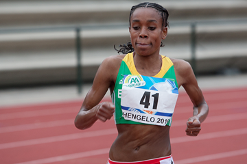 Almaz Ayana on her way to winning the 10,000m in Hengelo (Coen Schilderman)