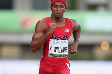 Kendal Williams in the 100m at the IAAF World Junior Championships, Oregon 2014 (Getty Images)