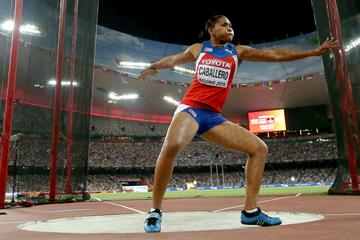 Denia Caballero in the discus at the IAAF World Championships, Beijing 2015 (Getty Images)