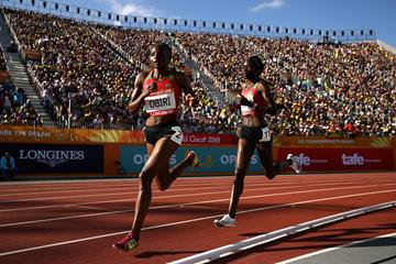 Hellen Obiri on her way to winning the Commonwealth 5000m title (Getty Images)