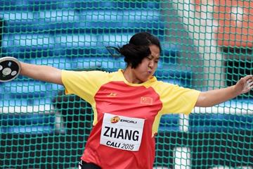 Wenjun Zhang at the IAAF World Youth Championships, Cali 2015 (Getty Images)