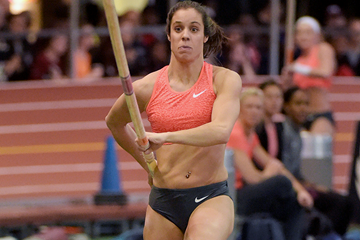 Ekaterini Stefanidi at the 2016 Millrose Games (Kirby Lee)