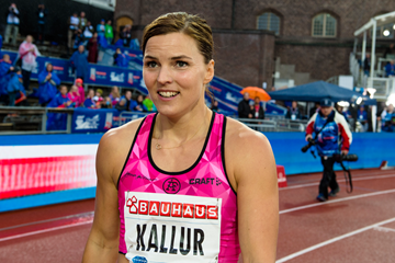 Susanna Kallur after the 100m hurdles at the IAAF Diamond League meeting in Stockholm (Getty Images)