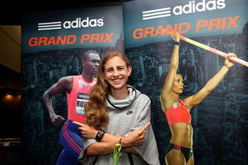 Mary Cain ahead of the 2014 IAAF Diamond League meeting in New York (Andrew McClanahan)