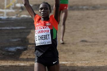 Emily Chebet wins the world cross-country title (Getty Images)