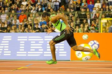Yohan Blake in action at the Van Damme Memorial in Brussels (Organisers)