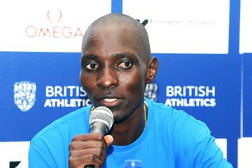 Asbel Kiprop on the eve of the Birmingham Diamond League meeting (Jean-Pierre Durand)