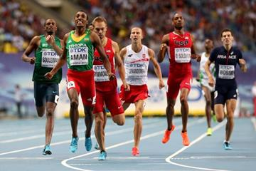 Action shot in the mens 800m Final at the IAAF World Athletics Championships Moscow 2013 (Getty Images)