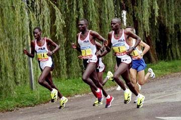 Japhet Kosgei (right) wearing no.2 (Getty Images)