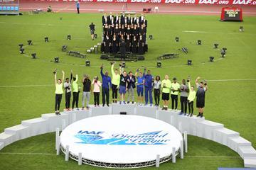 2016 IAAF Diamond League trophy ceremony in Zurich (Jean-Pierre Durand )