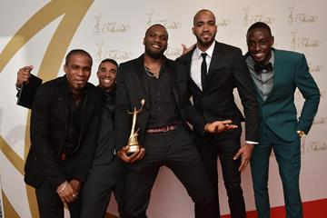 Members of the Trinidad and Tobago world champion 4x400m squad (Getty Images)
