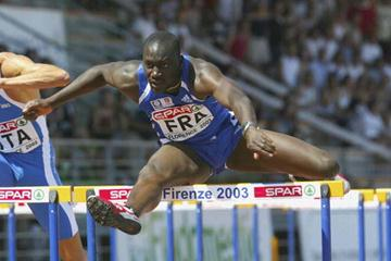 Ladji Doucoure of France winning the 110m Hurdles at the European Cup (Getty Images)