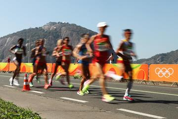 Marathon runners in action at the Olympic Games (Getty Images)