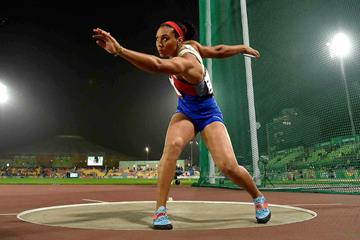 Yaime Perez, winner of the discus at the Pan-American Games in Lima (AFP / Getty Images)