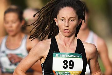 Eventual winner Beki Smith in action at the Oceanian 20km Race Walk Championships in Adelaide (Getty Images)