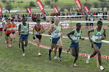Eritrea's Ali Abdallah (bib no. 8) running in Soria, Spain (Luis Angel Tejedor)