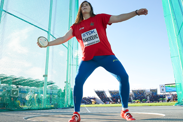 Discus winner Kristina Rakocevic at the IAAF World U20 Championships Bydgoszcz 2016 (Getty Images)